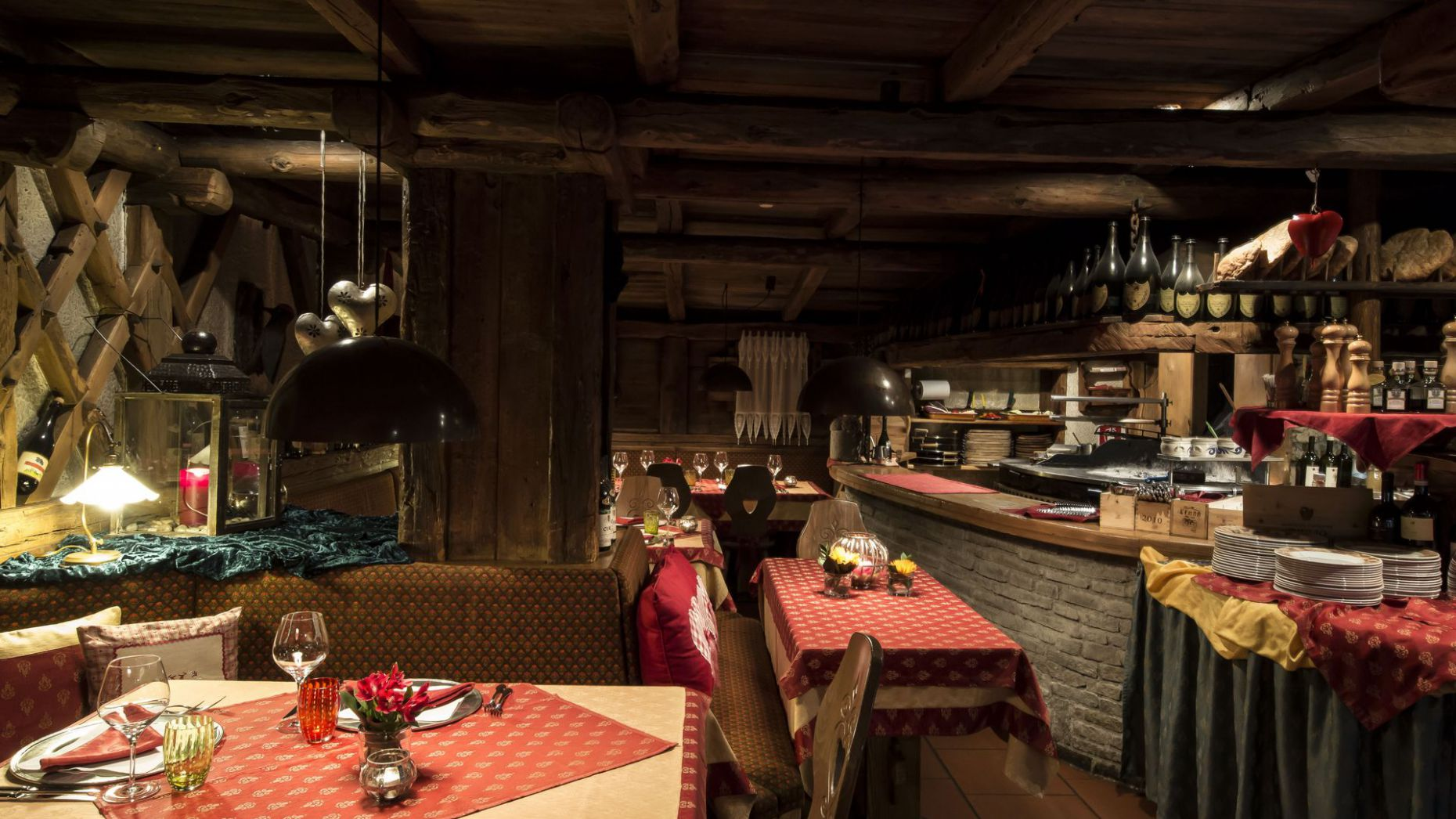 Image: dinner in Alta Badia
